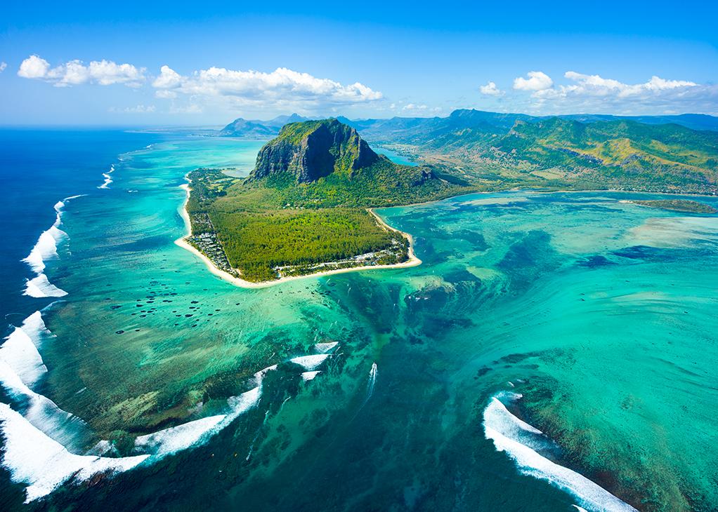 L'île Maurice baigne dans l'océan indien