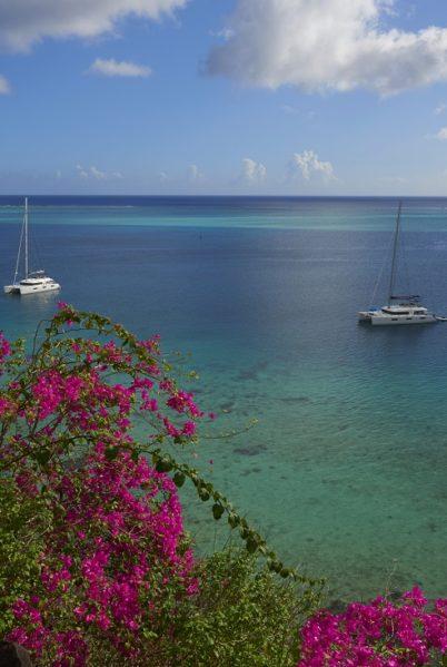 Catamaran dans les Iles de la Société