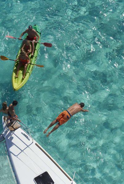 Catamaran dans les Tuamotu